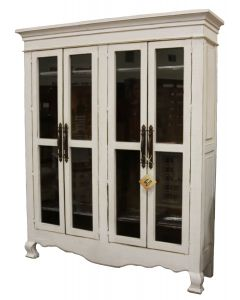 WEATHERED WHITE ARMOIRE 15W INSIDE