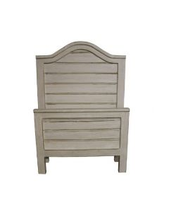 WEATHERED WHITE TWIN RANCH BED