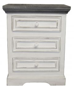 WW/123A OASIS 3 DRAWER NIGHT STAND