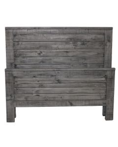 CHARCOAL GRAY STRAIGHT QUEEN RANCH BED