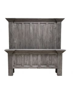 CHARCOAL GRAY QUEEN COLISEO BED
