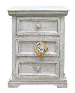 SMALL WHITE COLISEO NIGHT STAND
