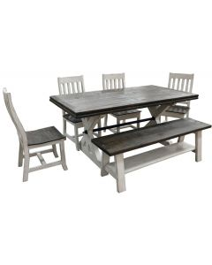 WEATHERED WHITE SPRINGS DINING SET