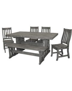 CHARCOAL GREY DINING GROUP SET