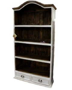 WEATHERED WHITE BOOKCASE