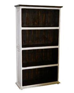 WEATHERED WHITE LARGE BOOKCASE