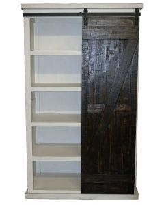 WW/15W BARN DOOR BOOKCASE