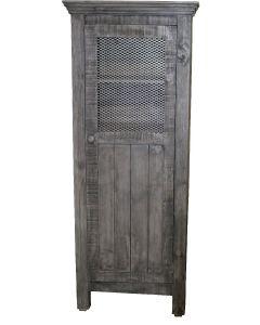 CHARCOAL GRAY WIRE 1 DOOR PANTRY