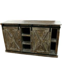 BARNWOOD TV W/ SLIDING BARNDOOR