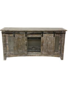 BARNWOOD BARN DOOR TV/FIREPLACE