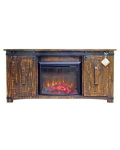RECLAIM BARN DOOR TV W/ FIREPLACE
