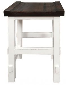 "WHITE/15W TOP 24"" STOOL"