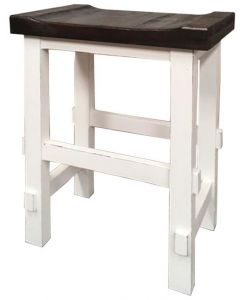 "WHITE/15W TOP 29"" STOOL"