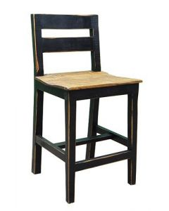 24IN S BROWN WOOD SEAT BARSTOOL