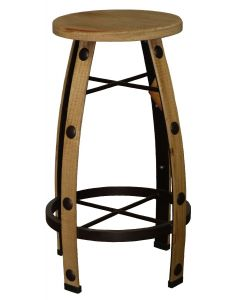 IRON & WOOD NATURAL BARSTOOL