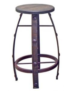 IRON & WOOD MEDIUM ROUGH BARSTOOL
