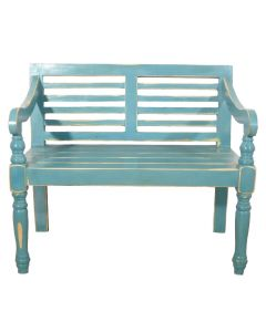 TURQUOISE RUBBED BENCH